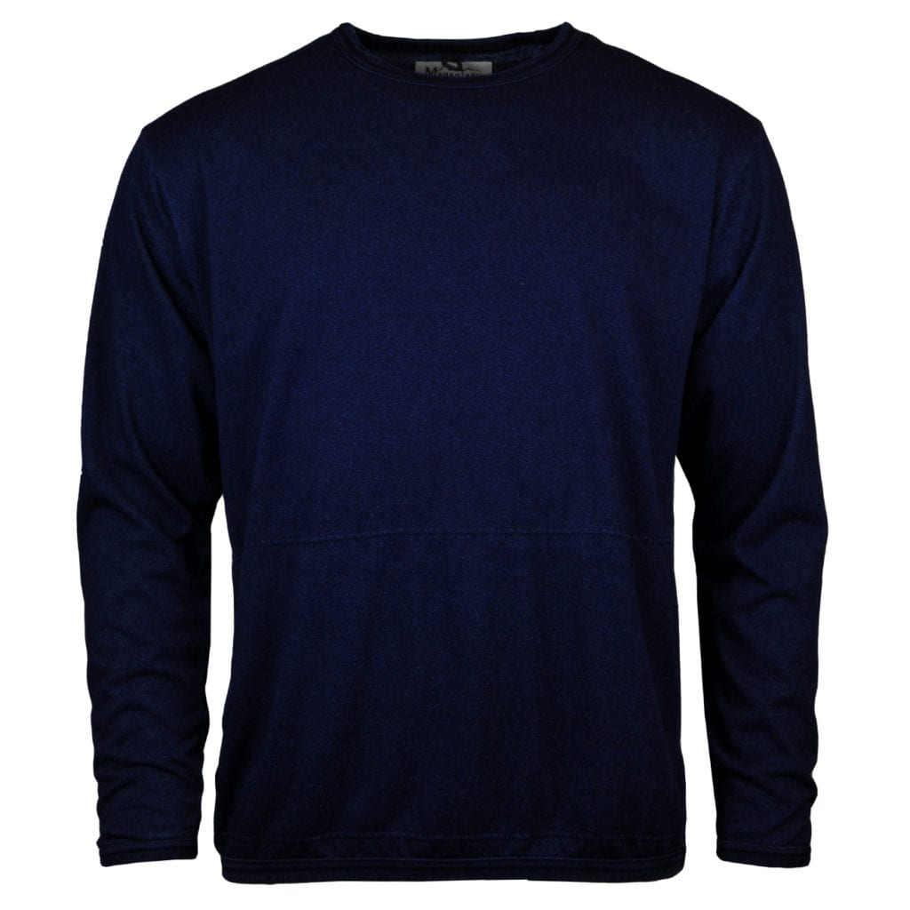 Manastash snug pile long sleeve Tshirt indigo