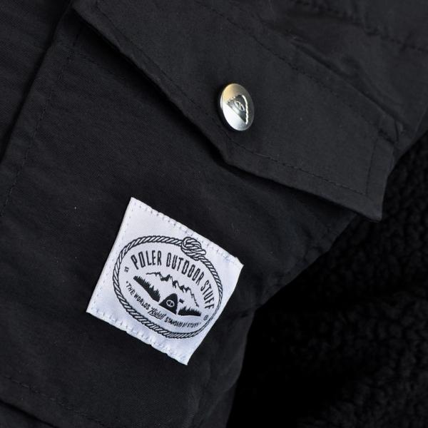 Poler half fleece jacket black 4
