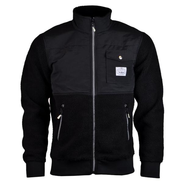 Poler half fleece jacket black
