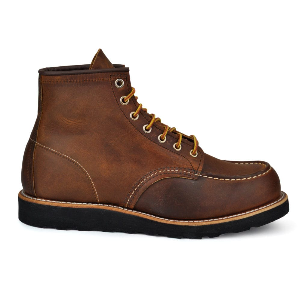 Red wing classic 6inch mocc leather boot copper