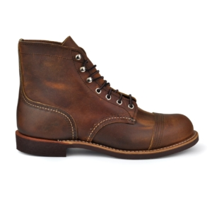 Red wing iron ranger round toe stitch boot copper