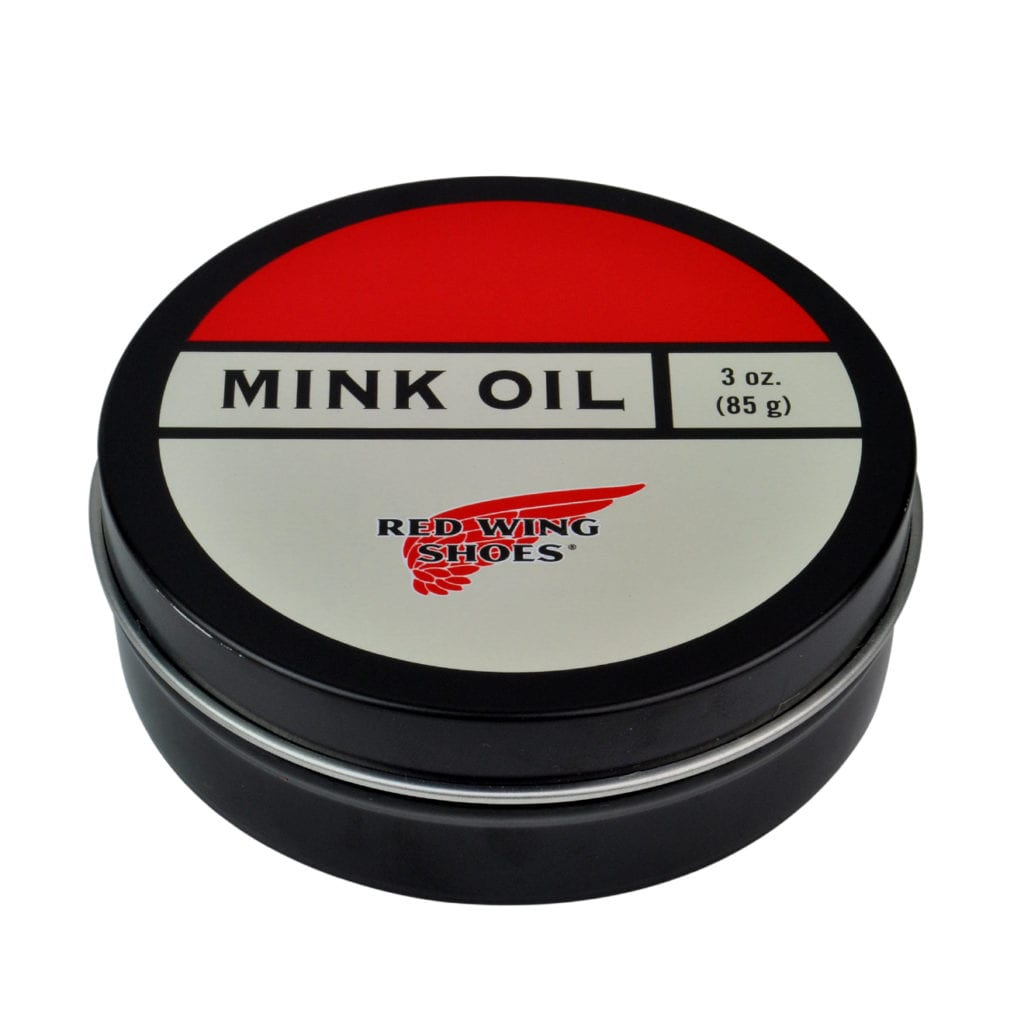 Red wing mink oil white red