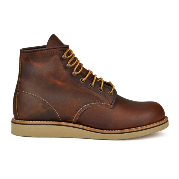 Red wing rover round toe leather boot copper