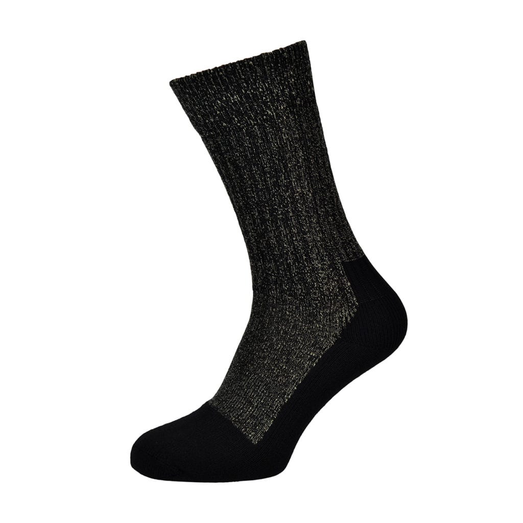 Red wing toe cap wool sock black