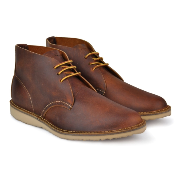 Red wing weekender chukka soft toe leather boot copper