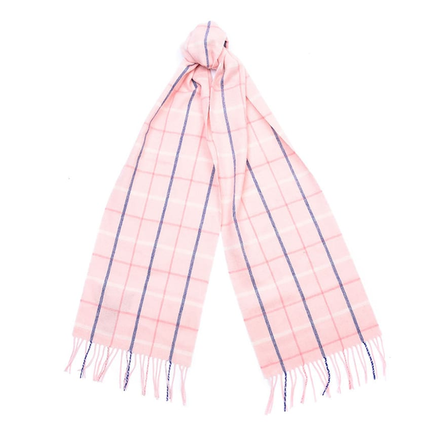 barbour-tattersall-scarf-pink