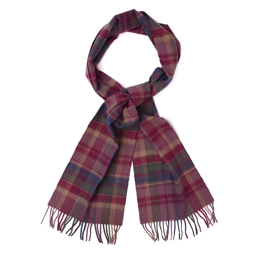 Barbour Vintage Winter Scarf Huckleberry