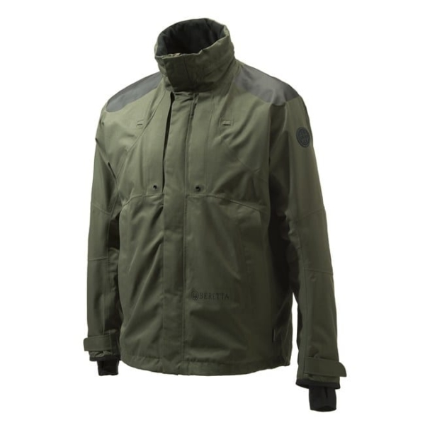 Beretta Dry Tech Active Goretex Jacket Green/Black Front With Microfleece Collar