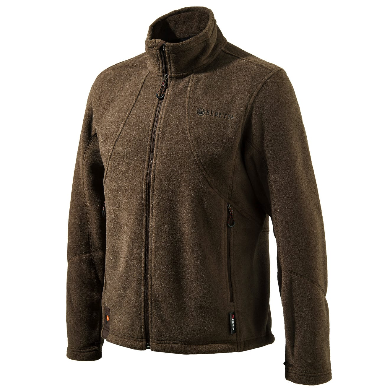 Beretta active track jacket full zip fleece brown