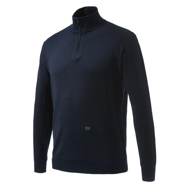 Beretta light merino half zip sweater blue night