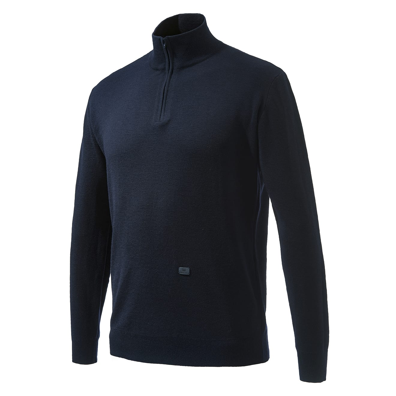 Beretta light merino half zip sweater blue night