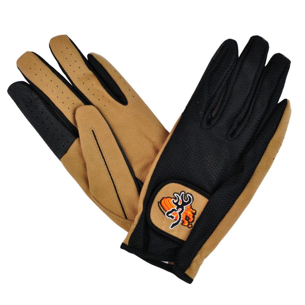 Browning Mesh back clay shooting gloves Black tan