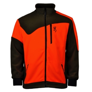 Browning polar powerfleece zip fleece green orange