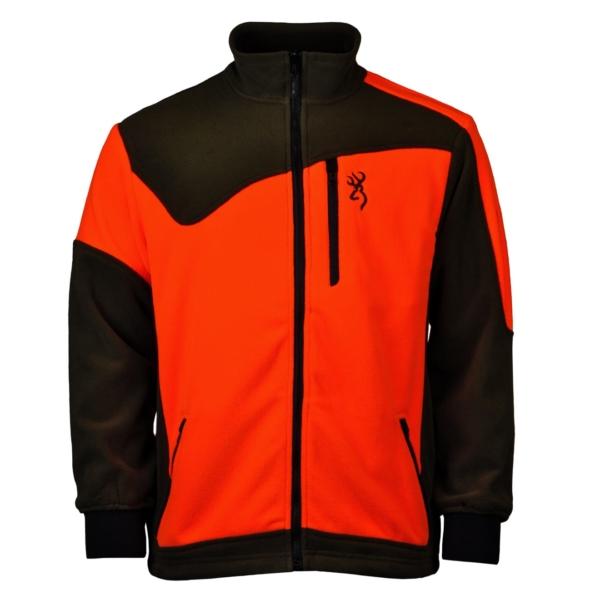 Browning polar powerfleece zip fleece green orange