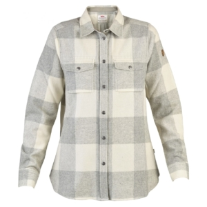 Canada shirt LS womens fog chalk white