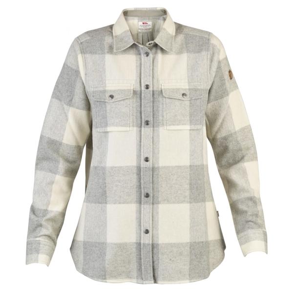 Canada shirt LS womens fog chalk white
