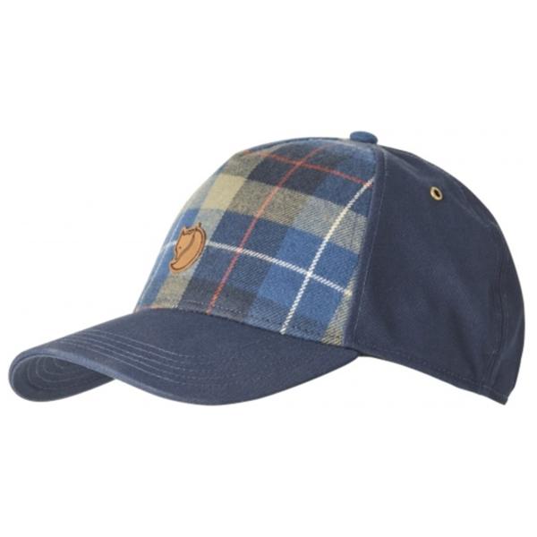 Fjallraven Övik Plaid Cap Navy