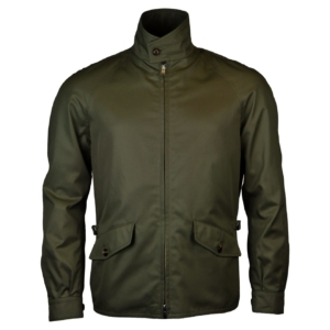 Grenfell cloth golfer jacket olive