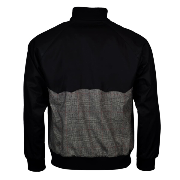 Grenfell cloth reversible harrington jacket black check