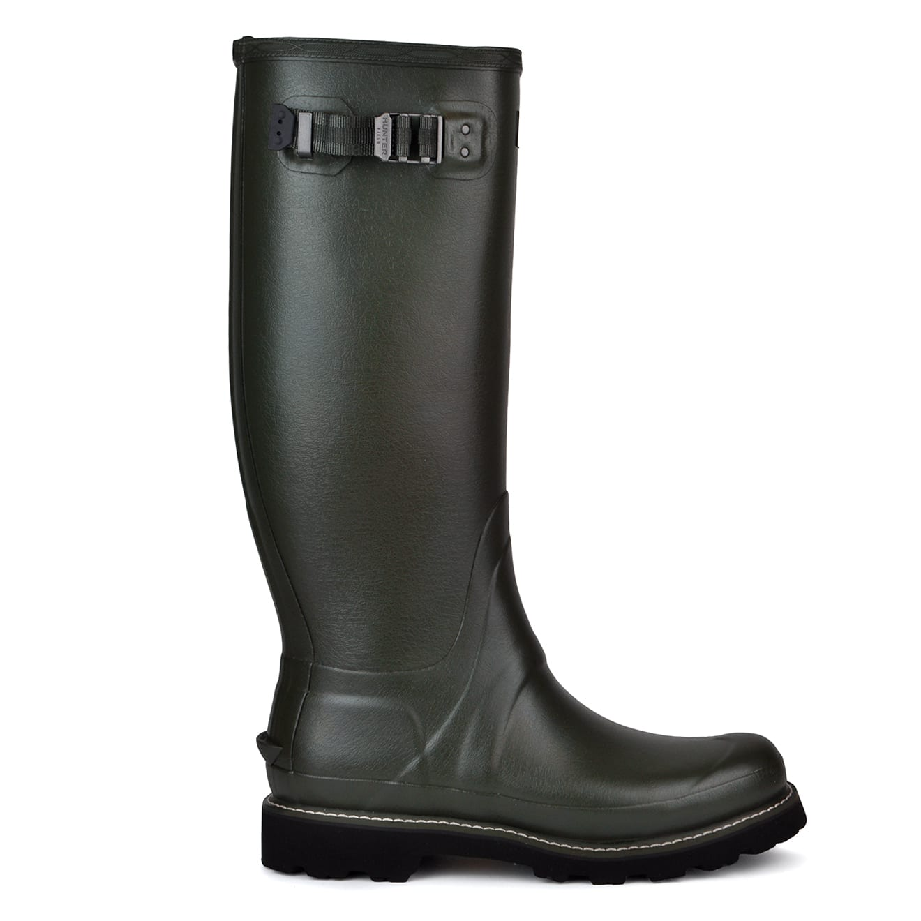 Hunter balmoral wellington boots dark olive