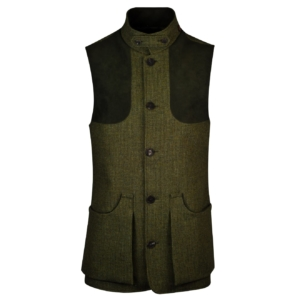 James purdey tweed high collar shooting vest portloughan
