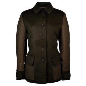James purdey womens patch pea coat khaki