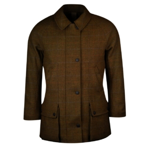 James purdey womens tweed field coat marygold