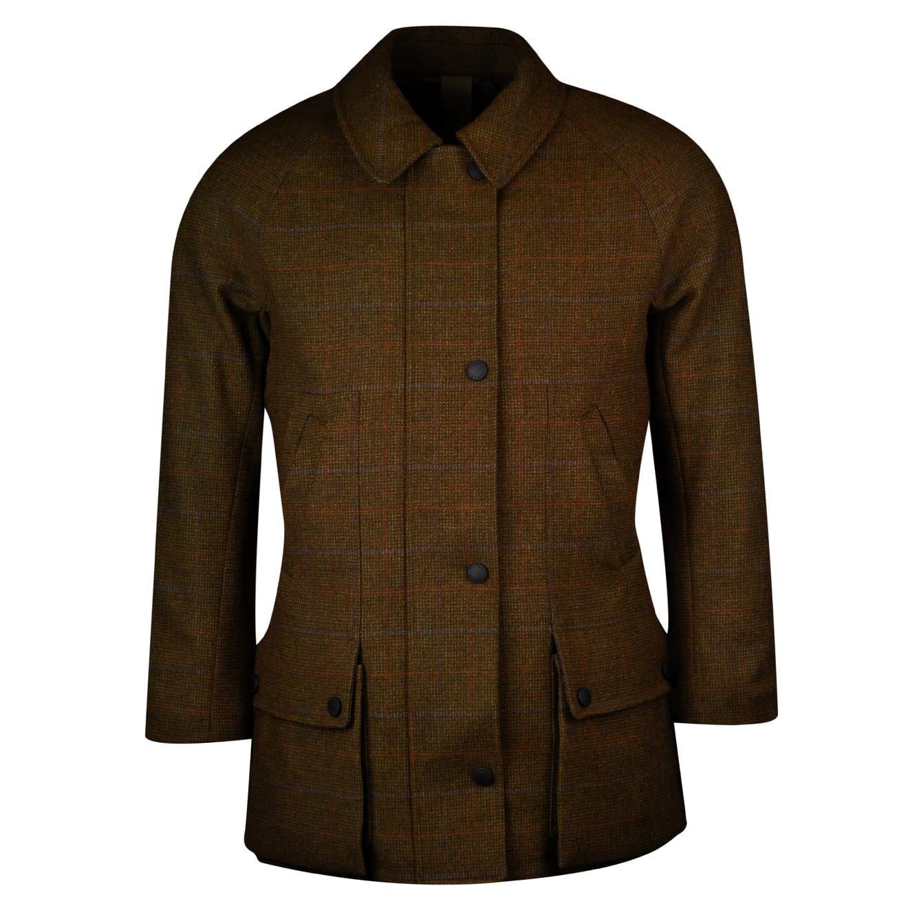 James purdey womens tweed field coat marygold