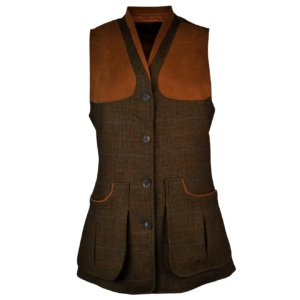 James purdey womens tweed shooting vest marygold