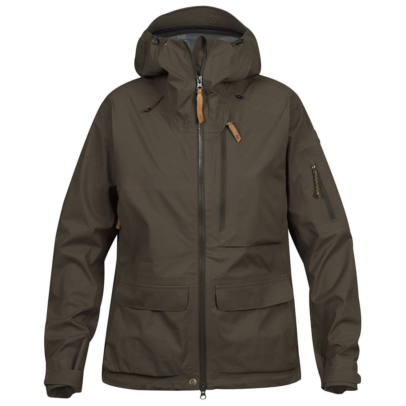 Fjallraven Lappland eco shell jacket womens dark olive