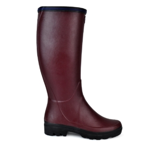 Le Chameau womens Giverny wellington boots cherry