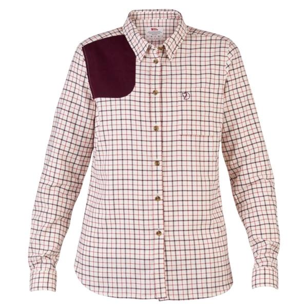 Sörmland Flannel Shirt LS Womens chalk white
