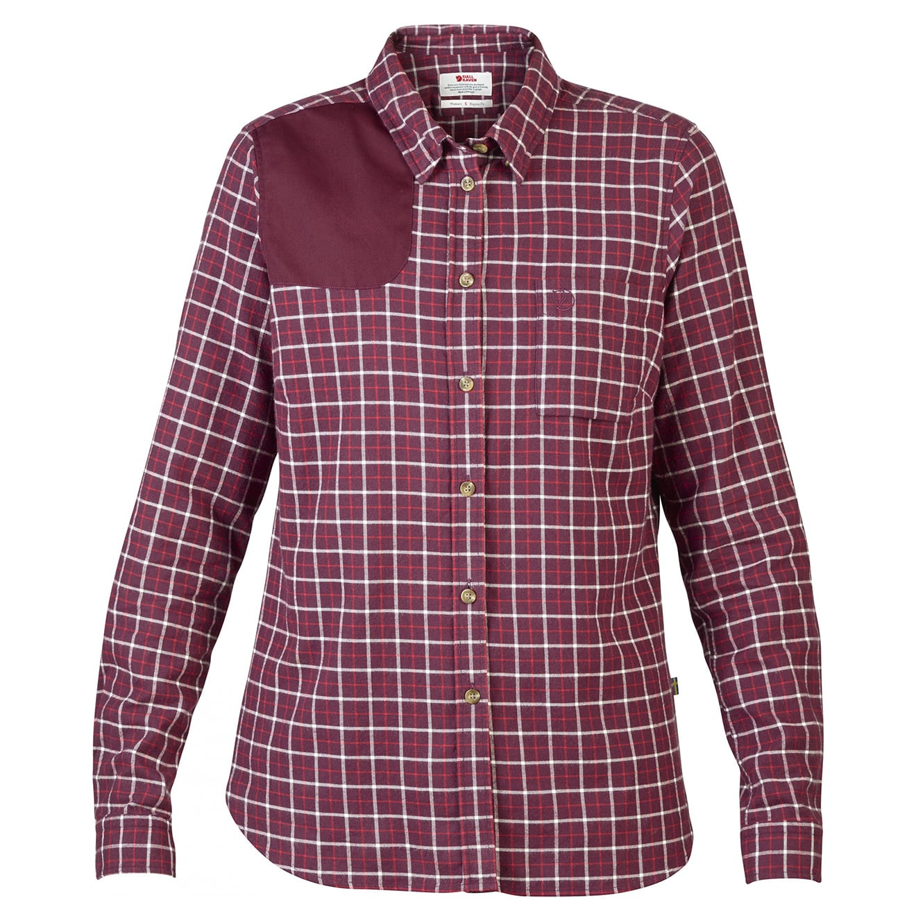 Sörmland Flannel Shirt LS Womens dark garnet