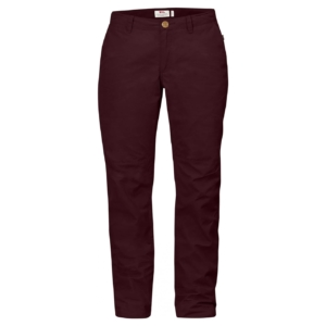 Sörmland Tapered Trousers Womens dark garnet