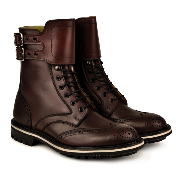Trickers ottenburger burgandy MC boot commando sole
