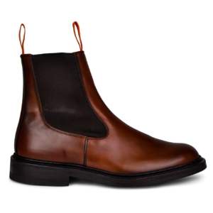Trickers stephen chelsea boot chestnut burnished