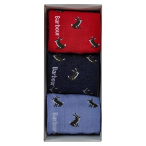 Barbour rabbit motif sock gift box set