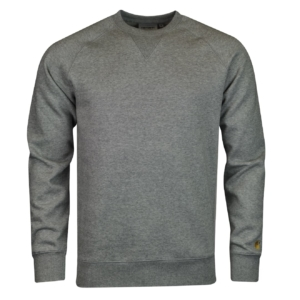 Carhartt chase sweat grey heather gold