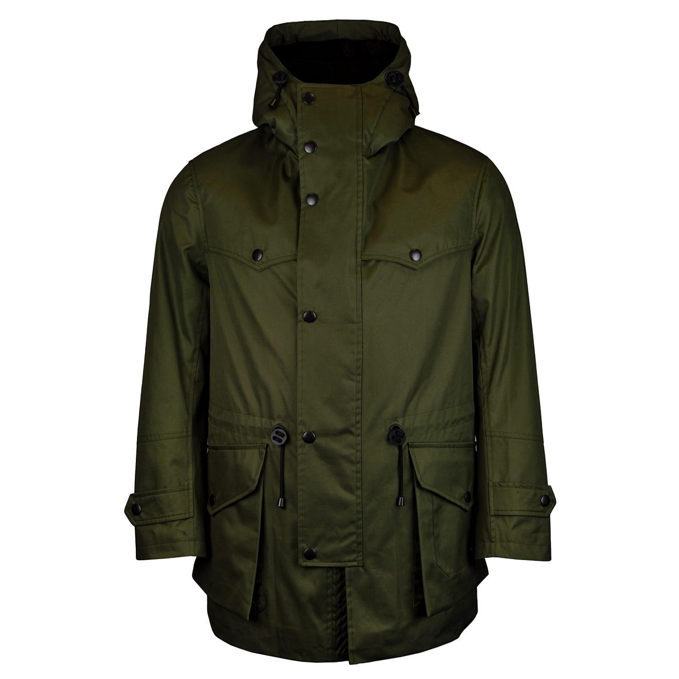 Grenfell scarfell parka jacket green