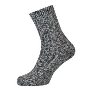 Wigwam cypress ragg sock white black