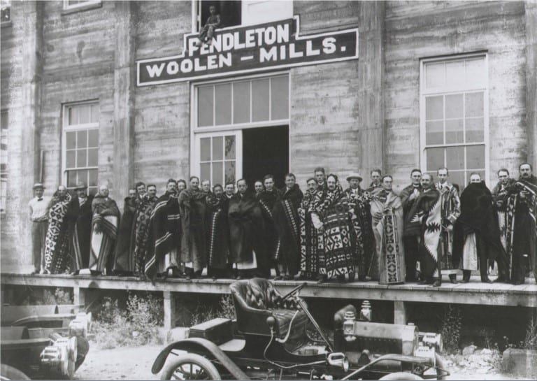 Local business men during a Pendleton Woolen Mills tour in 1910