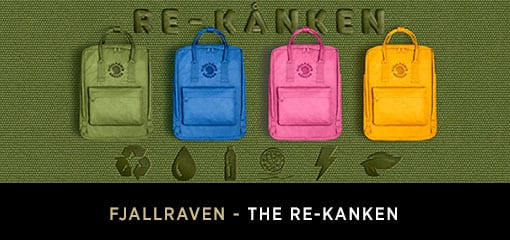 Fjällräven Range of Re-Kanken Bags