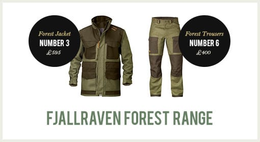 Fjallraven Forest Range of Jackets and Trousers