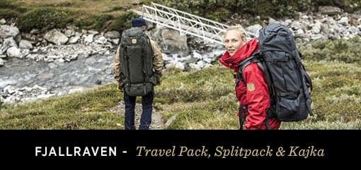 Fjällräven, Travel Pack, Splitpack and Kajka
