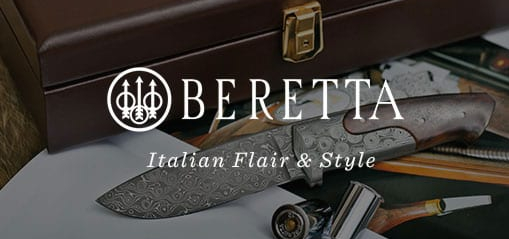 Beretta Italian Flair and Style, Case, Gun, Knife and Cartridges