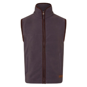 Bernard Weatherill Fleece Gilet Gun metal