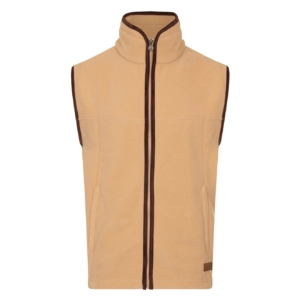 Bernard Weatherill Fleece Gilet Tan