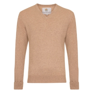 Bernard Weatherill V-Neck Knit Praline