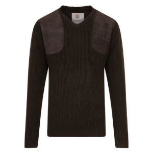 Bernard Weatherill V-Neck Shooting Knit Loden