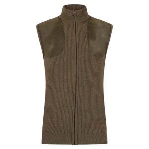 Bernard Weatherill Zip Through Knit Shooting Gilet Green
